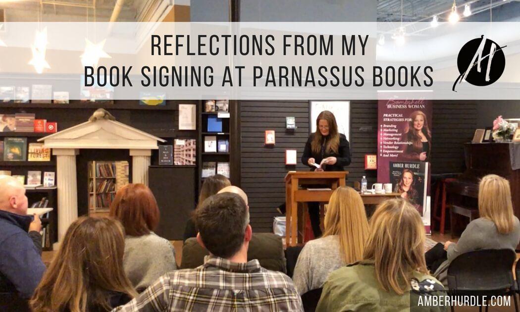 Author Amber Hurdle at Parnassus Books Author Event