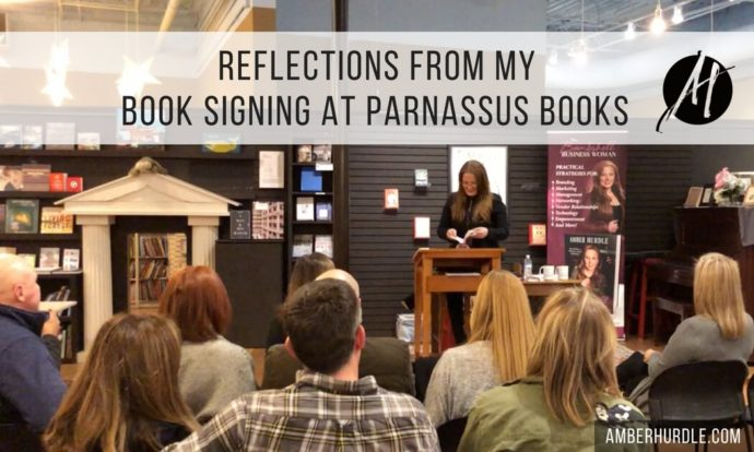 Author Amber Hurdle at Parnassus Books Author Event