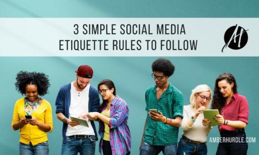Social media etiquette rules banner image